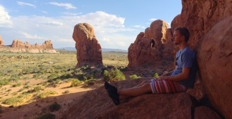 Christian at Arches National Park